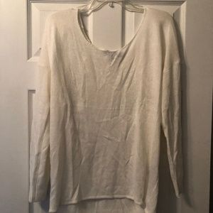 Ripped back cream sweater